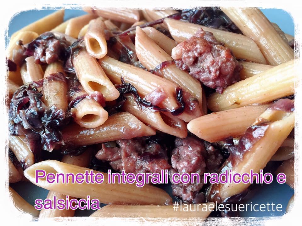 pennette-integrali-con-radicchio-e-salsiccia